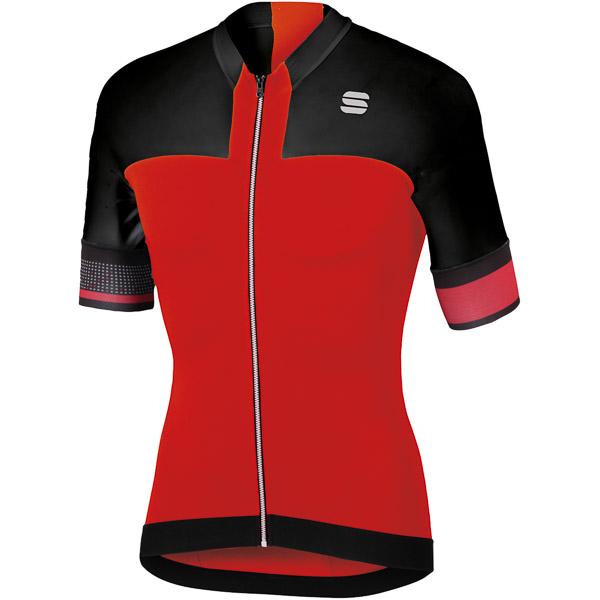 Sportful Strike cyklo dres červený/čierny