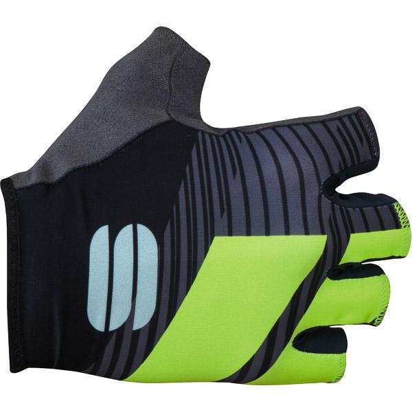 Sportful Bodyfit Team rukavice čierna/zelená fluo