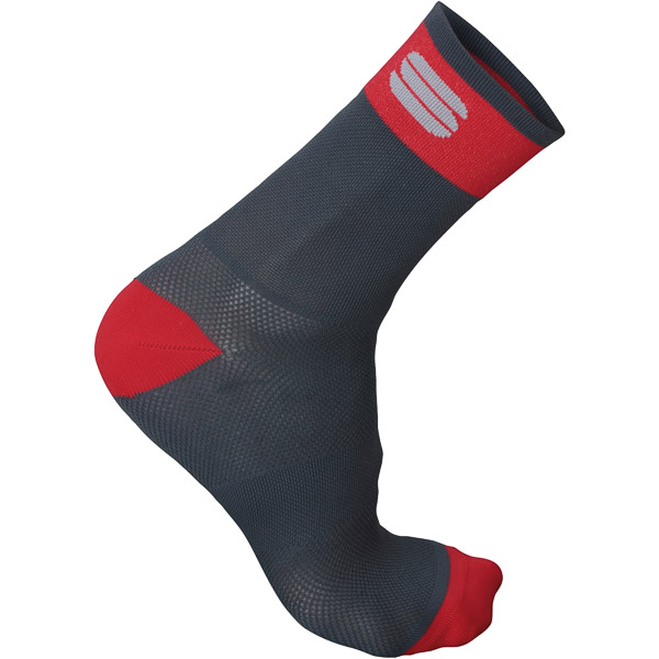 Sportful BodyFit Pro 12 ponožky tmavosivé/červené