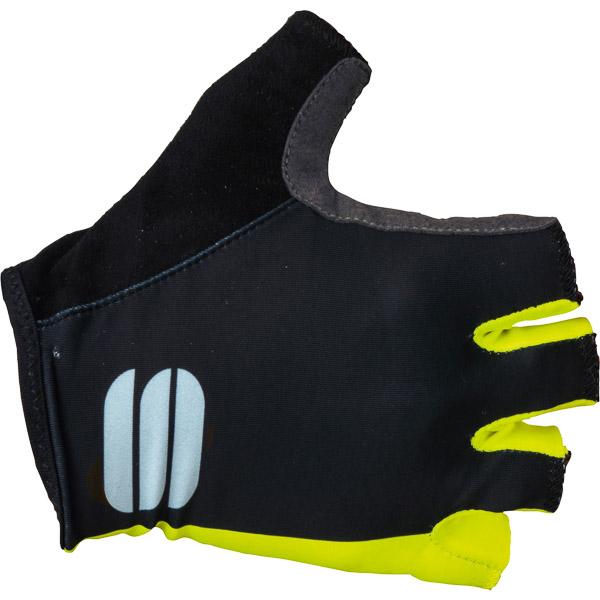 Sportful Diva dámske rukavice čierne/fluo žlté
