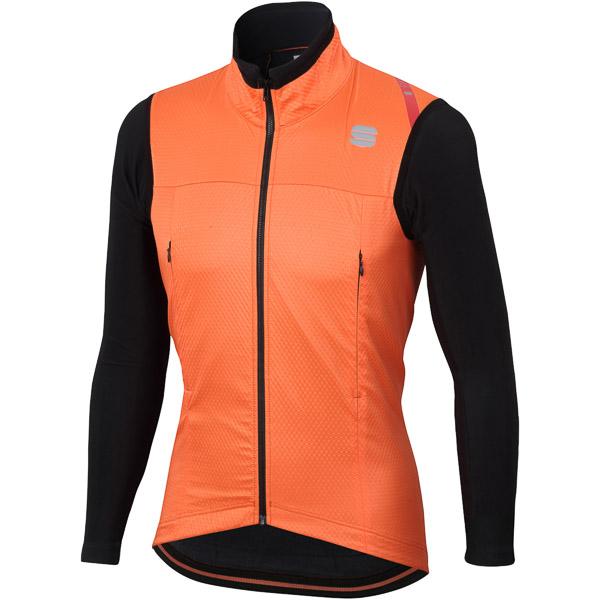 Sportful Fiandre Strato Wind bunda oranžová/čierna