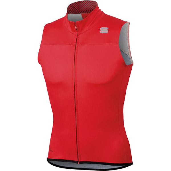 Sportful Bodyfit Pro Gore Windstopper vesta čierna/červená