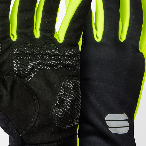 Sportful Gore WindStopper Essential2 rukavice čierne/fluo žlté