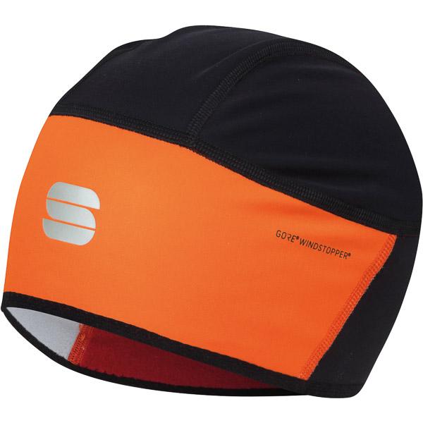 Sportful Gore® Windstopper® čiapka pod prilbu čierna/oranžová SDR