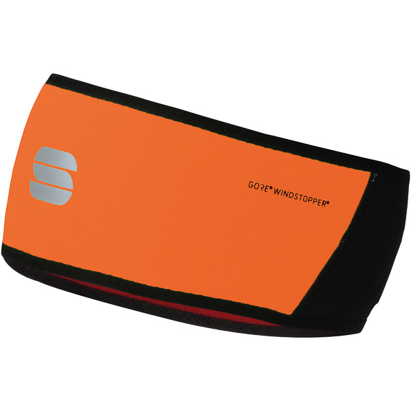 Sportful Gore® Windstopper® čelenka čierna/oranžová SDR