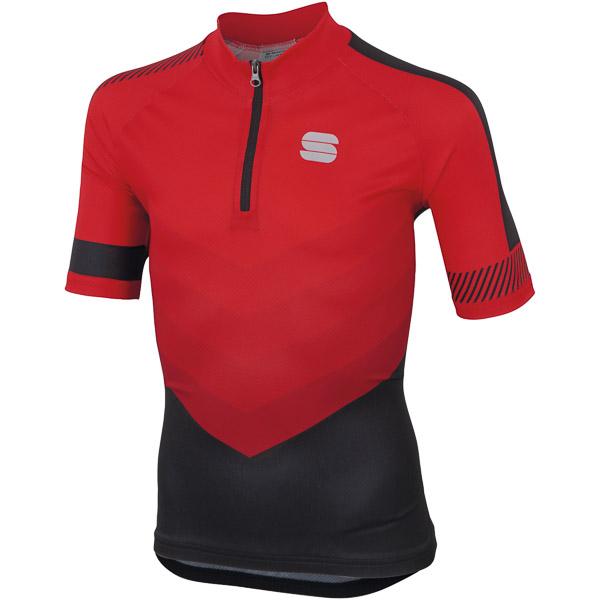 Sportful Chevron Detský dres  červený/čierny