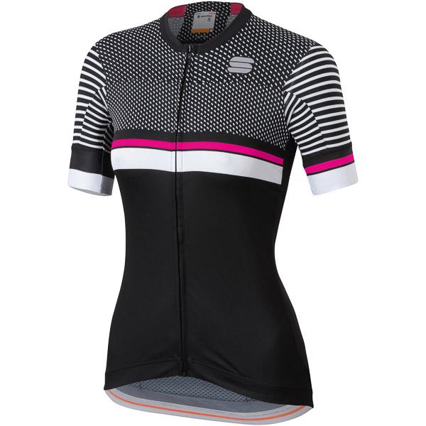 Sportful Diva 2 Dámsky dres čierny/biely/ružový