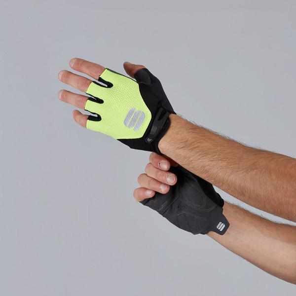 Sportful Neo Rukavice čierne/žlté fluo