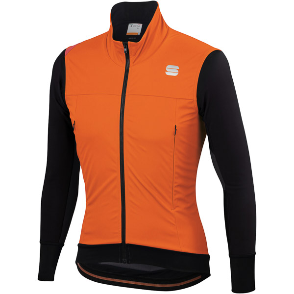 Sportful Fiandre Strato Wind bunda oranžová SDR/čierna