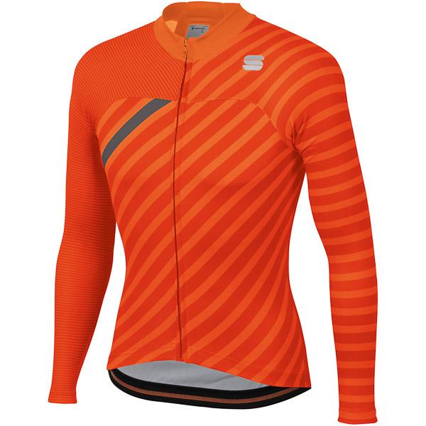 Sportful Bodyfit Team Winter dres oranžový/červený/antracitový