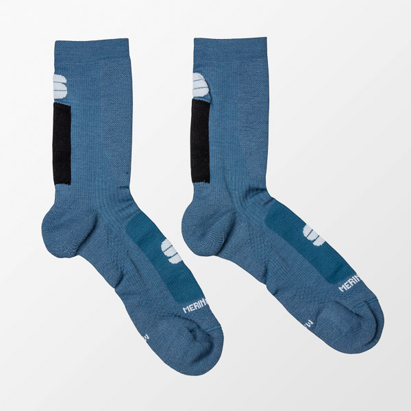 Sportful MERINO WOOL 18 ponožky modré/čierne