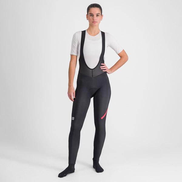 Sportful Fiandre NoRain dámske nohavice s trakmi čierne