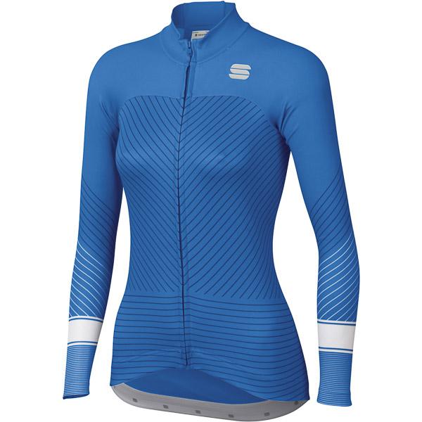 Sportful Flow dámsky dres s dlým rukávom modrý