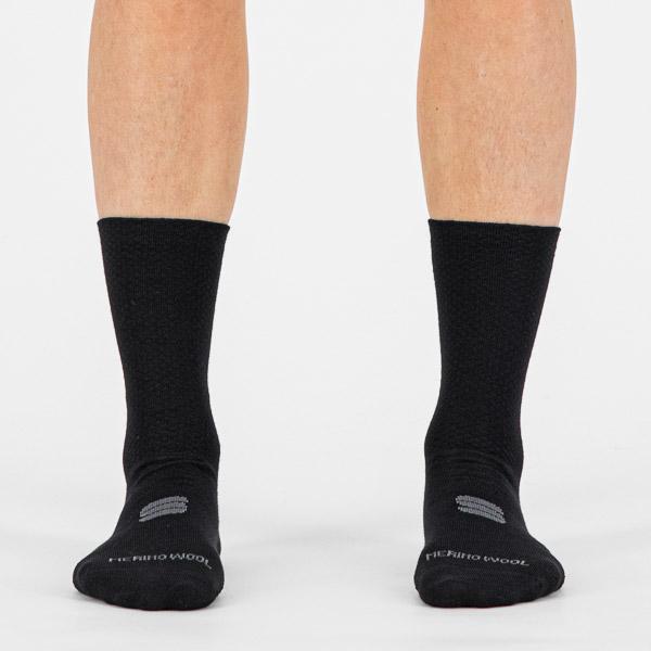 Sportful Wool 18 dámske ponožky čierne/antracitové