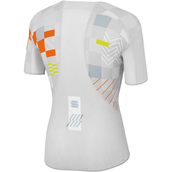 Sportful Pro termo tričko biele/strieborné/oranžové