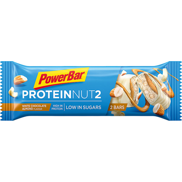 PowerBar Protein Nut2  tyčinka 2x22,5g Biela čokoláda/Mandle
