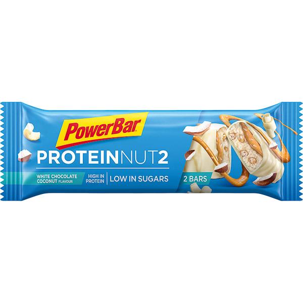 PowerBar Protein Nut2  tyčinka 2x22,5g Biela čokoláda/Kokos