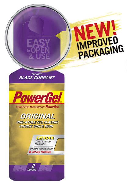PowerBar PowerGel 41g Čierne ríbezle + Kofeín