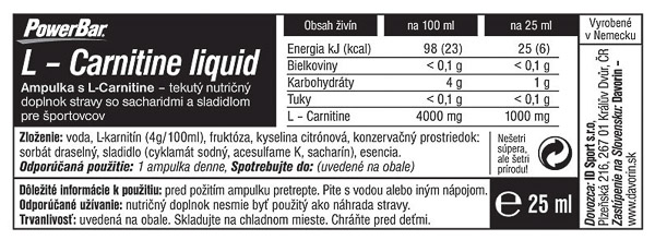 PowerBar L-Carnitine Liquid Ampulka 25ml