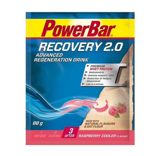 PowerBar Recovery 2.0 Regeneračný nápoj Malina 88g