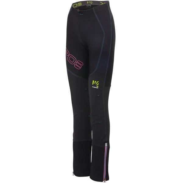 Karpos ALAGNA LITE nohavice dámske čierne/fluo ružové