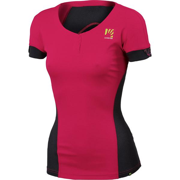 Karpos MOVED Dámske tričko ružové/tmavosivé