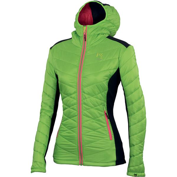 Karpos BURELON bunda dámska svetlozelená/antracit
