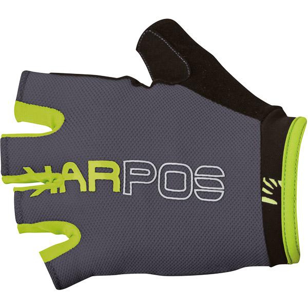 Karpos RAPID 1/2 rukavice, tmavosivé, zelené