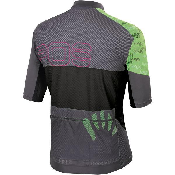Karpos JUMP dres tmavosivý/čierny/zelený fluo