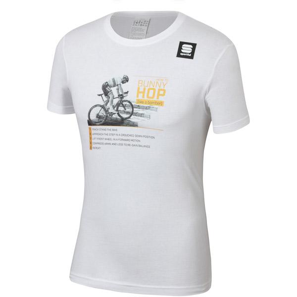 Sportful PETER SAGAN HOP tričko biele/čierne