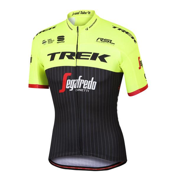 Trek-Segafredo BodyFit Pro Team dres čierna/fluo žltá/červená
