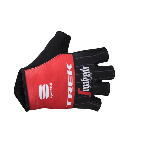 Trek-Segafredo BodyFit Pro Race rukavice čierne/červené