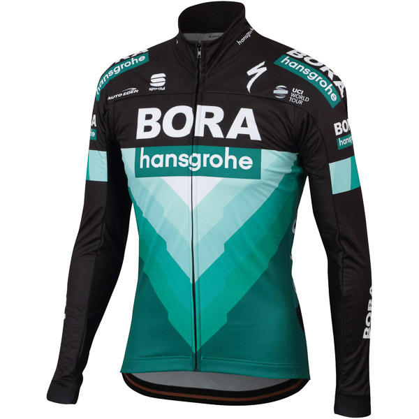 Sportful PARTIAL PROTECTION bunda Bora-hansgrohe čierna/BORA zelená