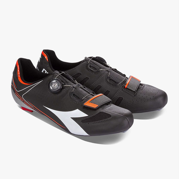 Diadora cestné tretry Vortex Racer 2  čierne/biele/červené