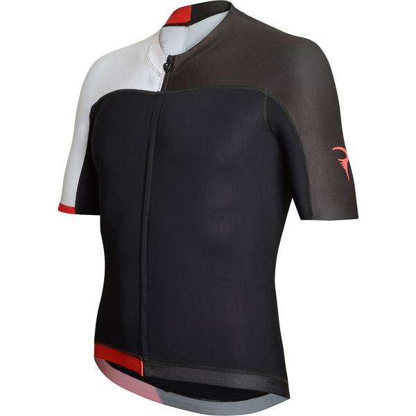 Pinarello dres SKIN Think Asymmetric čierny/biely/červený