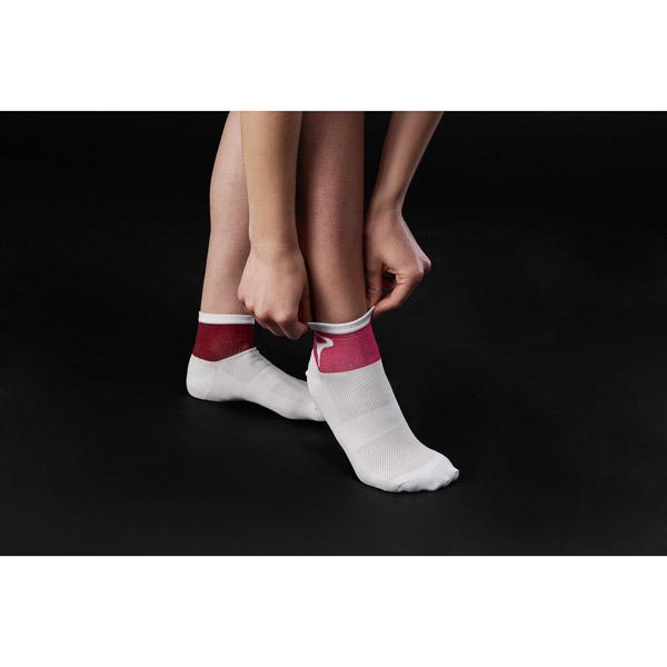 Pinarello dámske ponožky LIVE #iconmakers bordové/ružové