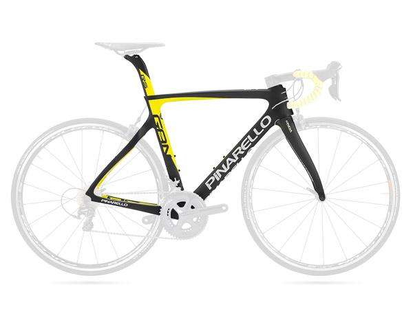 Pinarello GAN RS cestný rám čierny žltý fluo