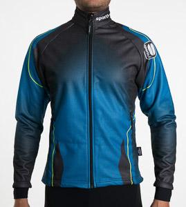 Sportful Nagano Windstopper bunda čierna/modrá