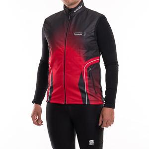 Sportful NAGANO WindStopper vesta oranžová-čierna