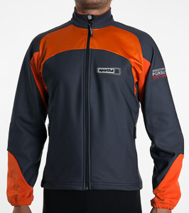 Sportful WS Verbier Bunda sivá-oranžová
