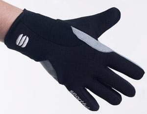 Sportful Loppet detské rukavice čierne/sivé