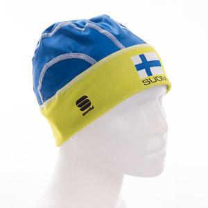 Sportful SUOMI WindStopper čiapka modro-zelená