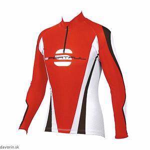 Sportful Hiihto Race Top červený/biely/čierny