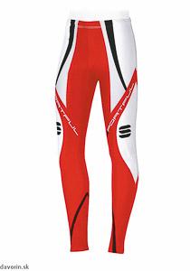 Sportful Hiihto Race nohavice červené/biele a čierne prvky