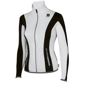 Sportful Fiames flísová bunda dámska biela/čierna