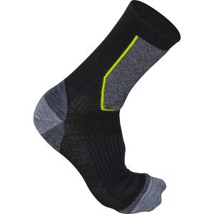 Sportful World Cup Wool Ponožky čierna, sivá, zelená