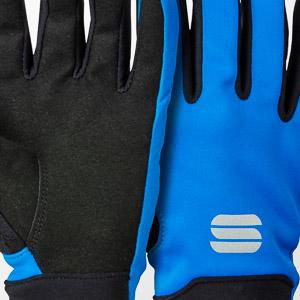 Sportful Kids Softshell rukavice čierna/modrá