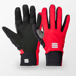 Sportful Kids Softshell rukavice čierna/červená