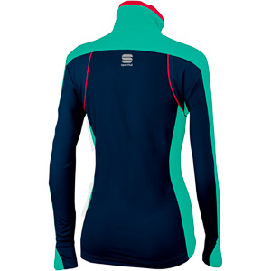 Sportful Engadin Wind Bunda dámska modrá/zelená