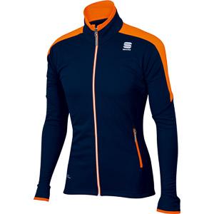 Sportful Squadra WS Bunda čierna/oranžová